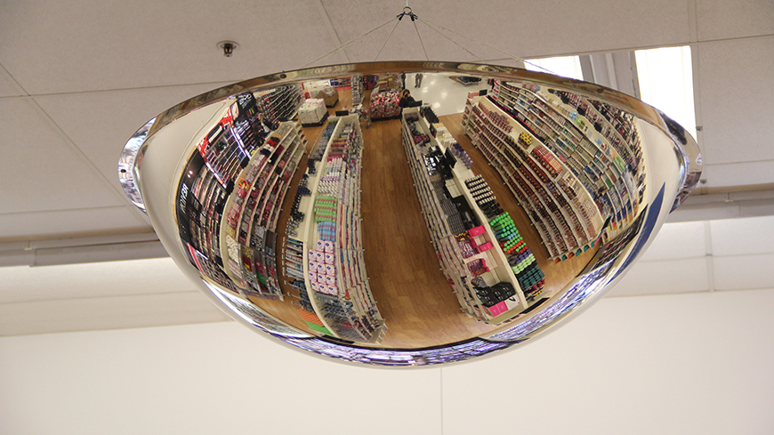 Retail Ceiling Dome Mirror